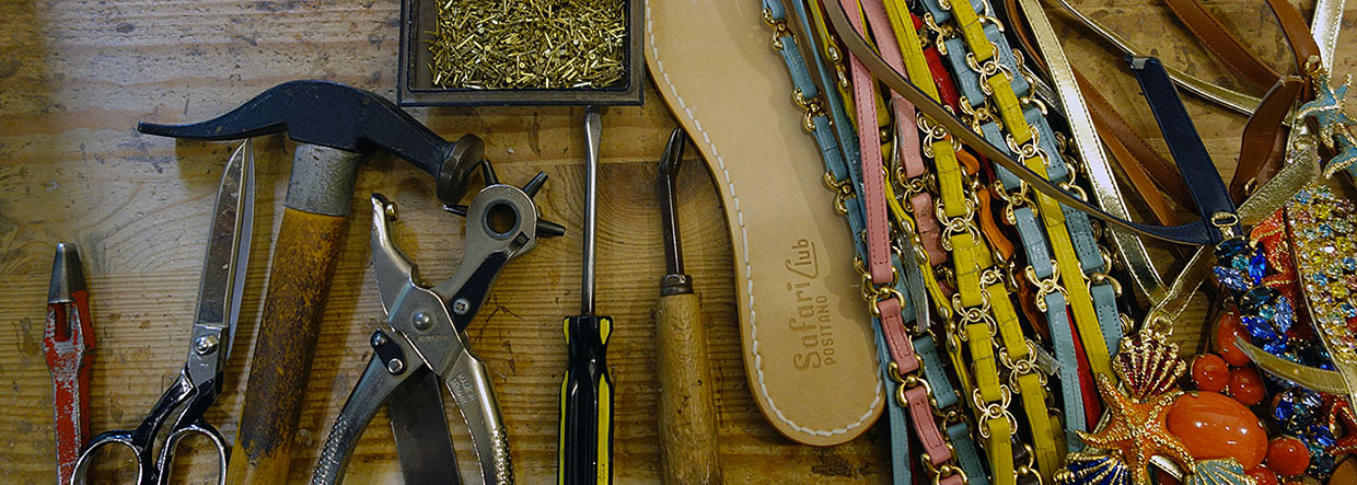 Positano sandals made to measure